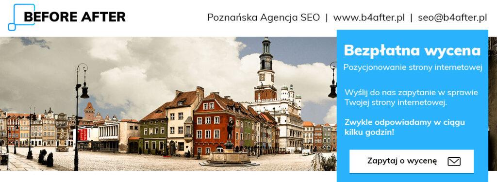 Lokalne Pozycjonowanie Stron Poznań Agencja SEO Before After